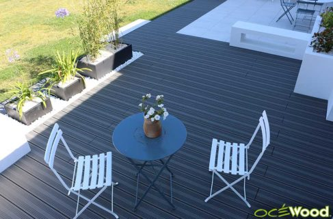 Terrasse Cocoon, Lame Océwood Optima Anthracite