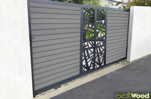Portail coulissant Ocewood Original anthracite NEW YORK